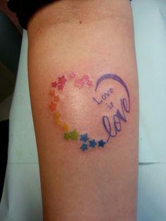 Pride rainbow love heart tattoo instagram@anarchy_alex