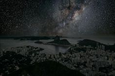 Rio-de-janeiro-Thierry-Cohen: What Major World Cities Look Like at Night, Minus the Light Pollution. Thierry Cohen, Light Pollution, Sky View, World Cities, Nocturne, Urban Landscape, Landscape Photos, Landscape Photography, Night Photography