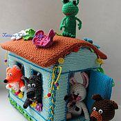 """Куклы и игрушки ручной работы. Ярмарка Мастеров - ручная работа Пальчиковый театр """"Теремок"""". Handmade."""