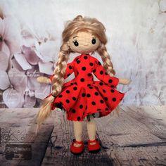 Crochet Doll 💕🐞 Teddy Bear, Dolls, Crochet, Animals, Baby Dolls, Animales, Animaux, Puppet, Teddy Bears