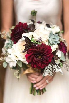 Image result for burgundy and white bridal bouquet