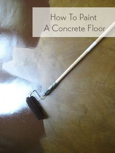 Steps for painting a concrete floor or patio.