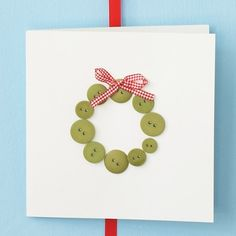 Determined to make Christmas cards...here's one easy peasy idea to start.