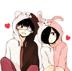 Kaneki and Touka ||| Tokyo Ghoul Fan Art