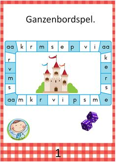 Lezen met kernen – Weg van onderwijs Dutch Language, Co Teaching, School Hacks, First Grade, Preschool Activities, Kids Learning, Spelling, Back To School, Reading