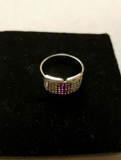 #jewelry 1.01 ct REAL ROUGH WHITE NATURAL DIAMOND .925 STERLING SILVER RING SIZE 9 please retweet