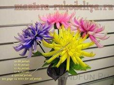 Видео мастер-класс по цветам из капрона: Хризантема
