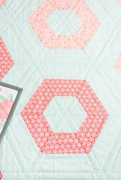 All the baby quilts: Hexie Rows baby quilt - Quilty Love