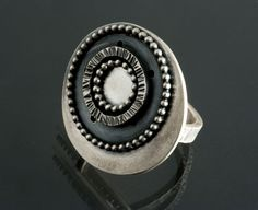 Ring | Jen Lawler Designs.  Sterling and oxidized silver.