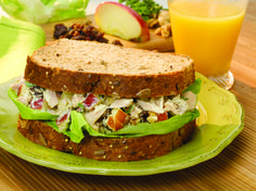 Tuna Apple Salad Sandwich #fruit #veggies #grains #protein #MyPlate #WhatsCooking