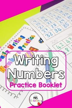 This daily writing numbers booklet has proved to be highly beneficial for my students. After being used every single morning for the entire year, every single child's ability to write numbers improved significantly. This is brilliant for catering for different abilities in your classroom. I have had students writing numbers in the 20s, while their classmates are writing into the millions! You can also extend your higher students by asking them to write by 2s, 3s, 5s, etc; or write backwards. Number Writing Practice, Writing Numbers, Phonics Activities, Math Resources, Number Recognition Activities, First Day Of School Activities, Australian Curriculum, Help Teaching, Booklet