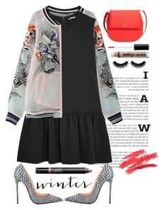 """""""Little black dress"""" by seannna-hale ❤ liked on Polyvore featuring WithChic, Miu Miu, Christian Louboutin, NARS Cosmetics, Kate Spade and NYX"""