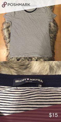 Selling this Brandy Melville striped shirt on Poshmark! My username is: kprdm. #shopmycloset #poshmark #fashion #shopping #style #forsale #Brandy Melville #Tops