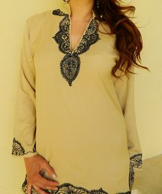 Beige Laila Tunic Summer style perfect for by MaisonMarrakech, $81.99