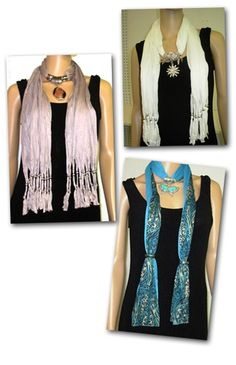 Fashion excitement at it's height . The latest in fashion at Beaver Creek Beads fashion. Jeweled scarves accented with real gemstones and one of a kind designs. Come early for best selection . Stone Pendant enhanced $ 28.95 ea. Bold Paisley Jeweltone Pashminas $ 18.95 ea. Faux Fur trimmed $ 34.95 ea.  210 Main Street 830.798.9650