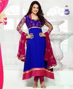 Buy Marvelous Blue Bollywood Salwar Kameez online at $64.88 [ADF30046]