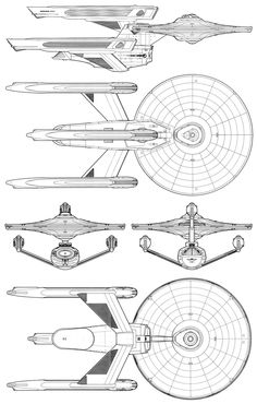 Rendering and schematic of Constitution-class (refit