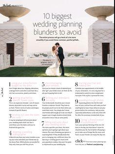 Wedding blunders
