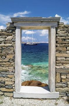 The underwater ruins were found near Delos island, Greece. ... Morning trip from Mykonos