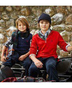 Ralph Lauren Boys' or Little Boys' Shirt, Sweater, Vest & Corduroy Pants - Kids Boys 2-7 - Macy's #ad