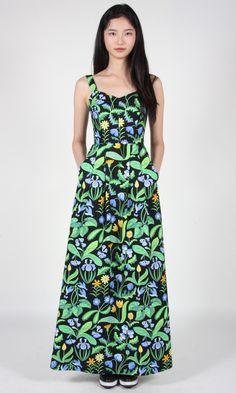 Babbler Dress - Wildflowers Birds of North America