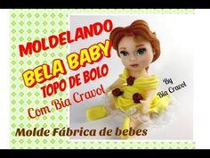 Bela Baby de Biscuit para Topo de Bolo - Princesas baby +  MOLDElando co...