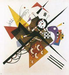 Su bianco II - 1923 - Kandinsky Vassili  Ment-elle,notrevision chaste D'affinité spirituelle?