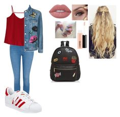 """Quick Set Made In My 2nd Period Class😅💛"" by coco2259 ❤ liked on Polyvore featuring George, Chicwish, Topshop, adidas, Ollie & B, MAC Cosmetics and Lime Crime"