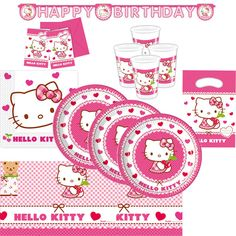 #partyset #hellokitty #pink #birthday #girl #decoration