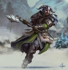 Fearsome warrior...and great hat. Gwf by GreyHues