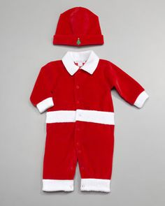 Merry+Makers+Velour+Hat+&+Playsuit+by+Kissy+Kissy+at+Neiman+Marcus.