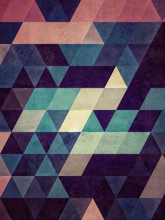 Blue geomatric ★ iPhone wallpaper