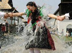 In today's Photo Journal, a wet Easter in Hungary Easter In Poland, Polish Easter, Easter Monday, Easter Season, Easter Traditions, Folk Dance, Ancient Mysteries, Photo Journal, Eastern Europe