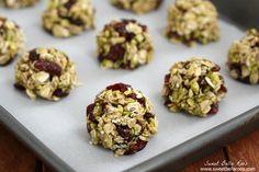 Cranberry Pistachio No Bake Energy Bites