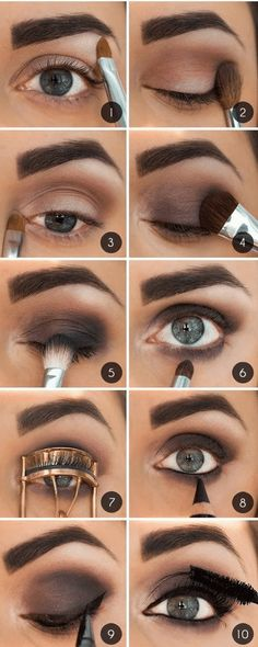 Brown Smoky Eye Makeup Tutorial with Full Brows - Schönheit Br. Brown Smoky Eye Makeup Tutorial with Full Brows - Schönheit Brown Smoky Eye Makeup Tutorial with Full Brows Smoky Eye Makeup Tutorial, Smokey Eye Makeup, Skin Makeup, Eyeshadow Makeup, Beauty Makeup, Peachy Eyeshadow, Smokey Eyeshadow, Makeup Brushes, Makeup Remover