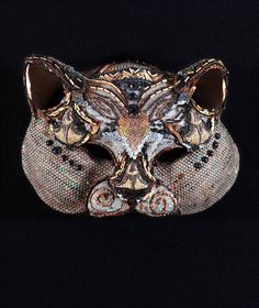 Cat mask by Leonor Fini Max Ernst, Francis Bacon, Magritte, Art Costume, Costumes, Cat Mask, Ceramic Birds, African Masks, Sand Art
