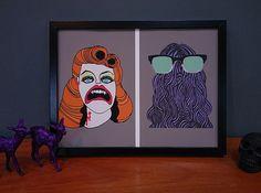 b&b art print - mr and mrs vamp