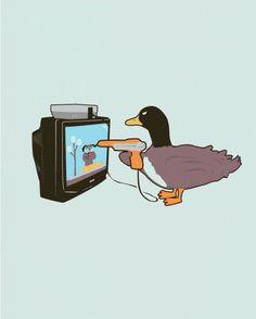 Duck Hunt 2 - The Revenge! Wii U, Video Game Art, Video Games, Retro Videos, Duck Hunting, Humor Grafico, 8 Bit, Jouer, Memes