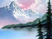 bob ross oil painting