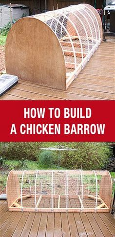 How To Build A Chicken Barrow: http://www.mychickencoop.net/how-to-build-chicken-barrow/