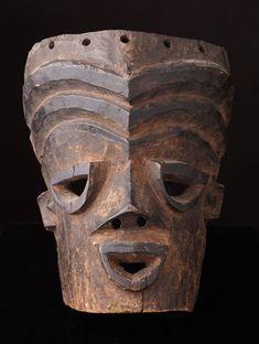 Idiok Mask from the Ibibio People of Nigeria www.africaandbeyond.com