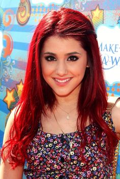 Grande hair ariana red