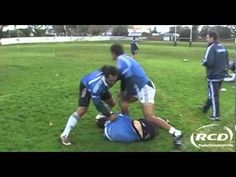 Rugby Coaching Drills - 'Duck and Clean' Rucking Technique - YouTube