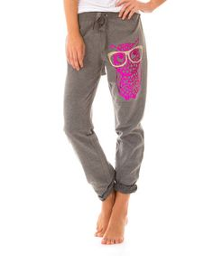 Take a look at this Gray Owl Sweatpants by Bottoms Up on #zulily today!