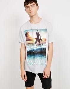 'extreme selfies' top - T-shirts - Bershka Denmark