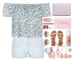 """""""Untitled #190"""" by kreay-1 ❤ liked on Polyvore featuring River Island, Topshop, Ted Baker, Victoria's Secret, Benefit, kitsch island, Billabong, Ray-Ban, Emporio Armani and Vintage America"""