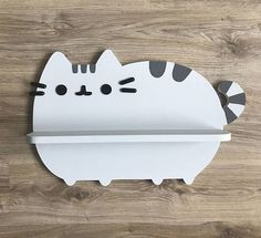Pusheen Cat Shelf Wall shelf Kids room decor Wooden shelf