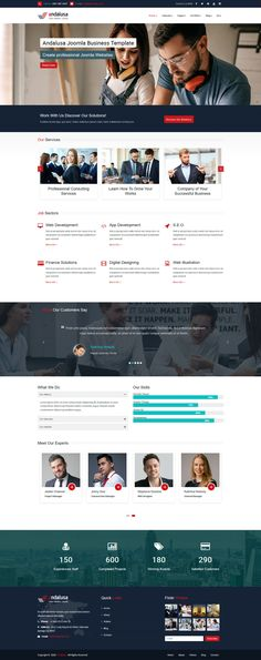 Andalusa Business-Corporation Joomla Template Joomla Templates, Corporate Business