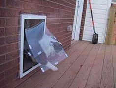 Pictorial Guide To Installing The MaxSeal Wall Mount Pet Door Through Brick  Sided Homes