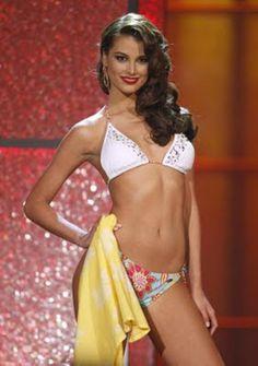 Miss Universe 2009 Stefania Fernandez of Venezuela in a swimsuit by BSC Swimwear Thailand.